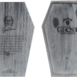 Laser engraved branding on exterior and interior of custom-made coffin top