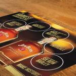 Tasting Mat for six bourbon varieties