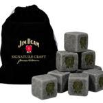 Branded velvet pouch and whiskey stones
